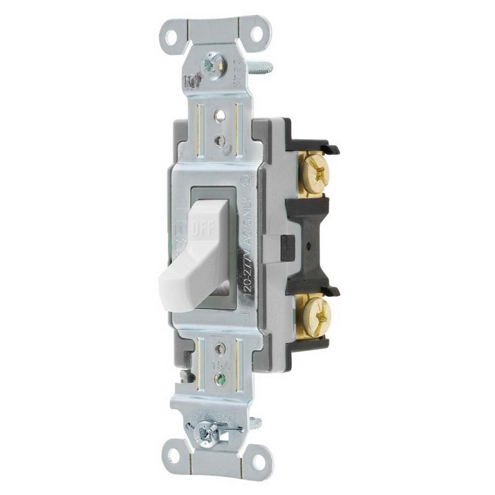 Hubbell-Wiring CSB115W 120/277 Volt AC 15 Amp 1-Pole Commercial ...