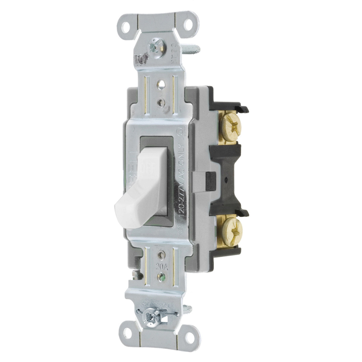 Hubbell-Wiring CSB220W 2-Pole 120/277 Volt AC 20 Amp Commercial ...