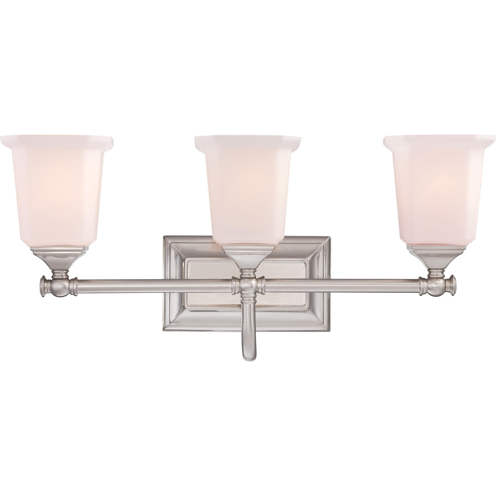 Quoizel Lighting Nl8603bn 3 Light Traditional Clic Bath Fixture 100 23 Watt 120 Volt Brushed Nickel Nicholas
