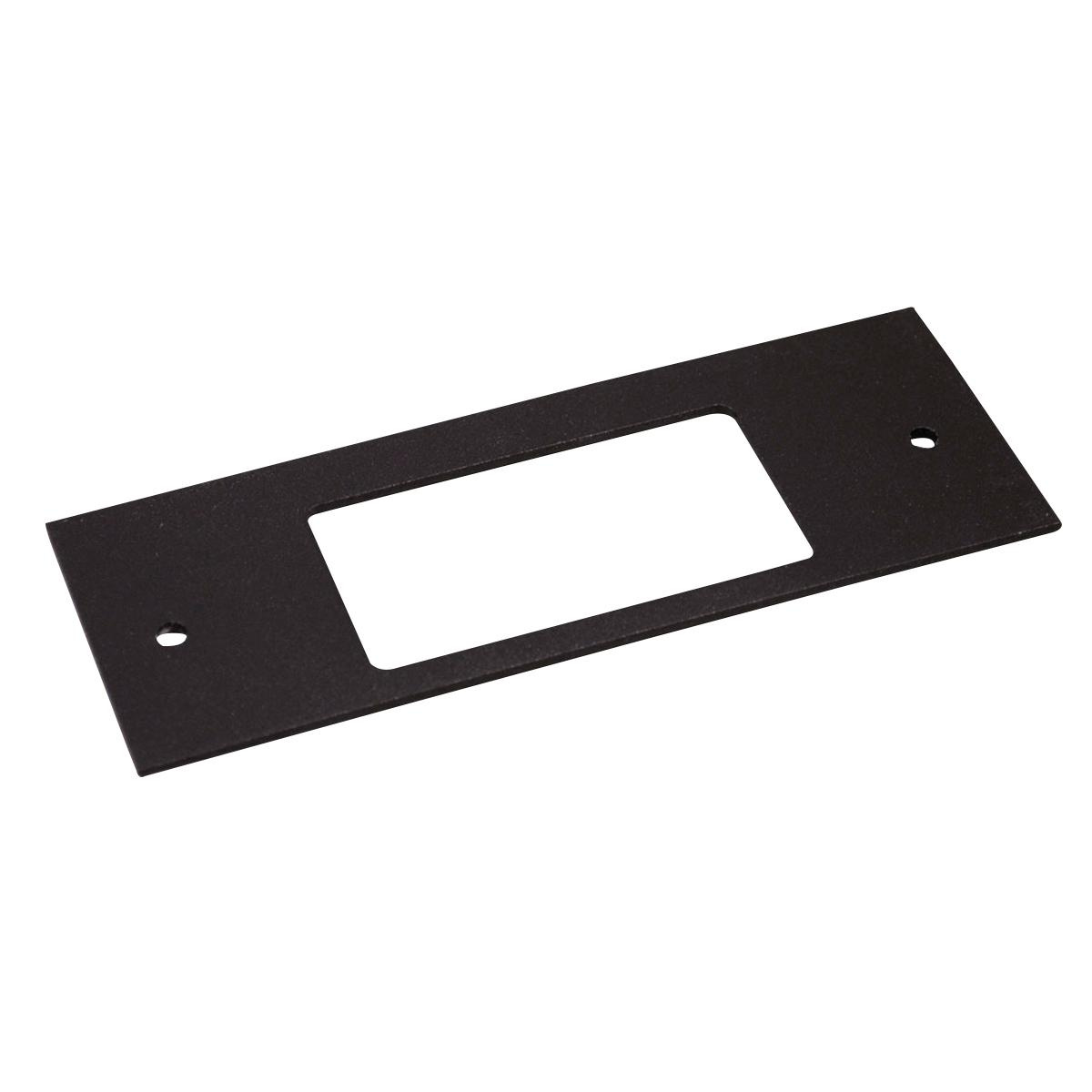 Wiremold Ofr47 R Decorator Device Plate Steel Black Powder Coated