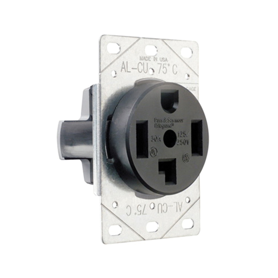 Pass  U0026 Seymour 3864 Straight Blade Power Outlet Receptacle