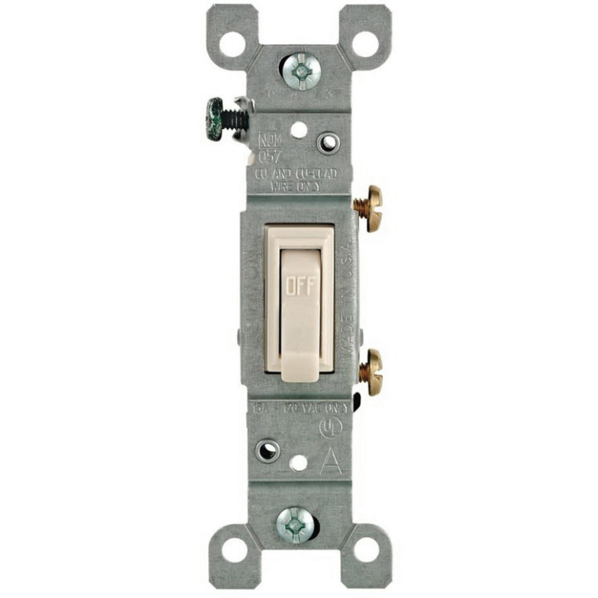 Leviton 1451-2T 120-Volt AC 15-Amp 1-Pole Residential Grade Toggle on