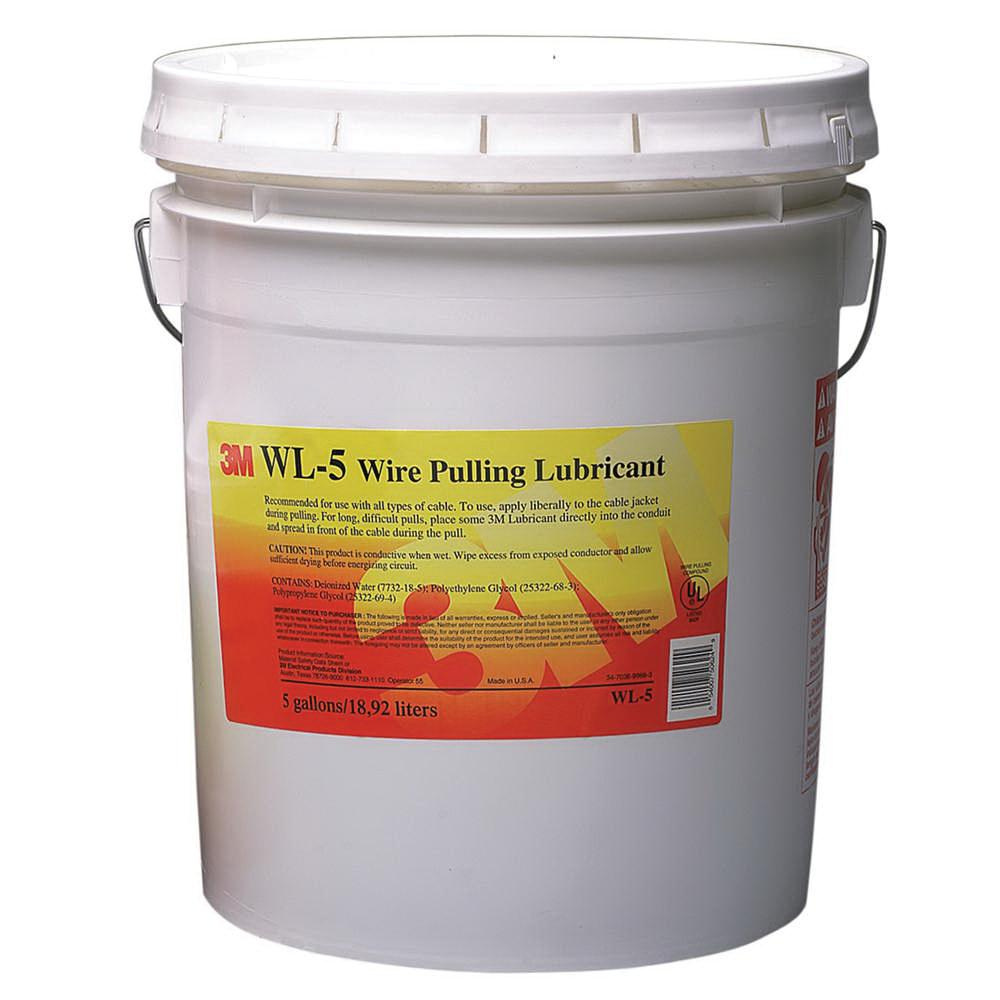 3M WL-5 Wire Pulling Lubricant Gel 5 gal Pail Translucent White ...