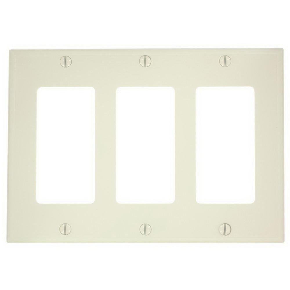 Leviton 80411 Nt Thermoplastic Nylon Device Mount Standard Size 3 Wiring Devices Gang Wallplate Faceplate
