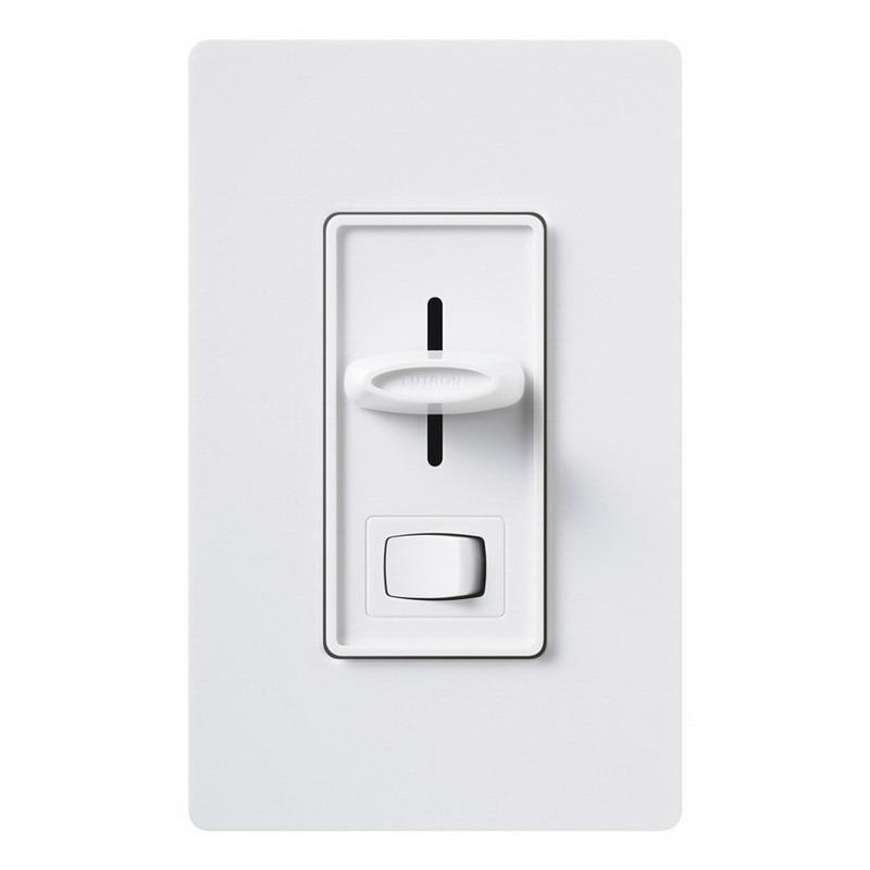 Lutron SCL-153P-WH 120 Volt AC at 60 Hz 1-Pole 3-Way Preset Dimmer White Skylark® CL®