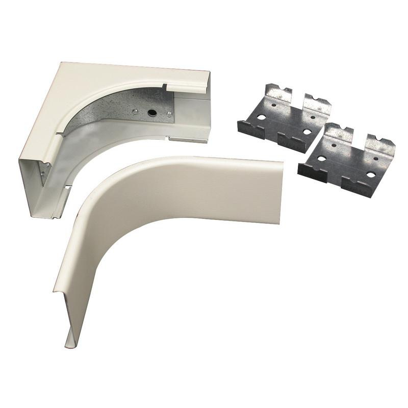 Wiremold V2417FO Radius Internal Elbow Fitting Steel Ivory For Use With 2400® Series Dual-Channel Raceway