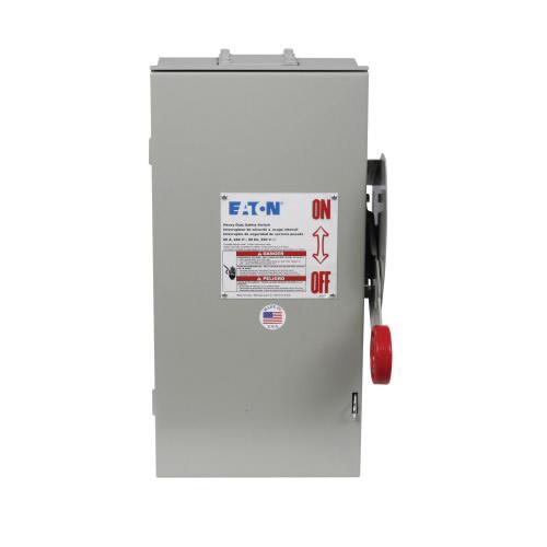 Eaton DH222NRK 3 Wire 2 Pole Fusible K Series Heavy-Duty Safety Switch 240 Volt AC 60 Amp NEMA 3R