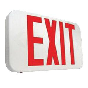 Cooper Lighting APX7R All Pro Series Self Powered LED Exit Sign with Battery Backup White Housing Red Letter 120/277 Volt Sure-Lites®