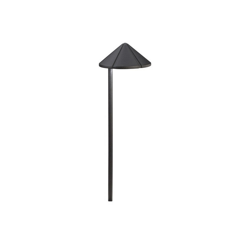 Kichler 15315BKT 1-Light Path And Spread Light 24.4 Watt 12 Volt Textured Black Six Groove Six Groove