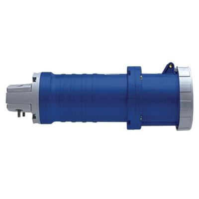 Leviton 360C6W 3-Wire 2-Pole Watertight Industrial Grade Pin and Sleeve Connector 250 Volt 60 Amp Blue