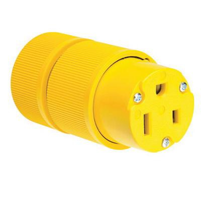 P & Seymour D0653 3-Wire 2-Pole Gator Grip Connector 250-Volt AC 50-Amp Electrical Connectors For Wiring on
