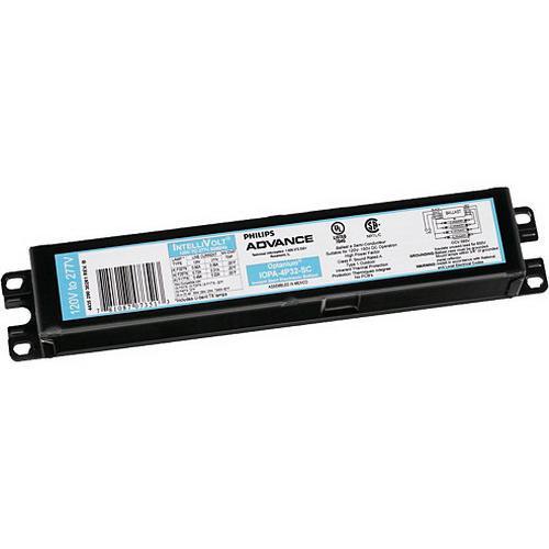 Philips Advance IOP4PSP32LWSC35M (4) 32 Watt F32T8 Lamp Electronic Fluorescent Ballast 120 - 277 Volt Optanium