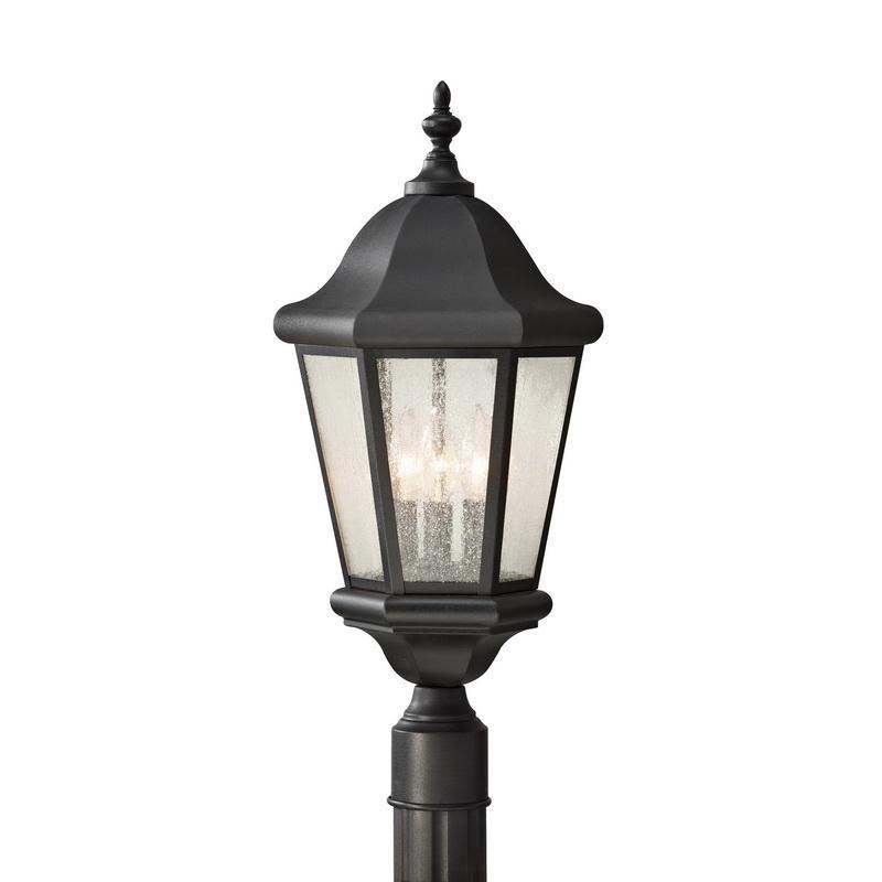 Murfeiss OL5907BK 3-Light Outdoor Pole Wall Lantern 60 Watt 120 Volt Black Martinsville