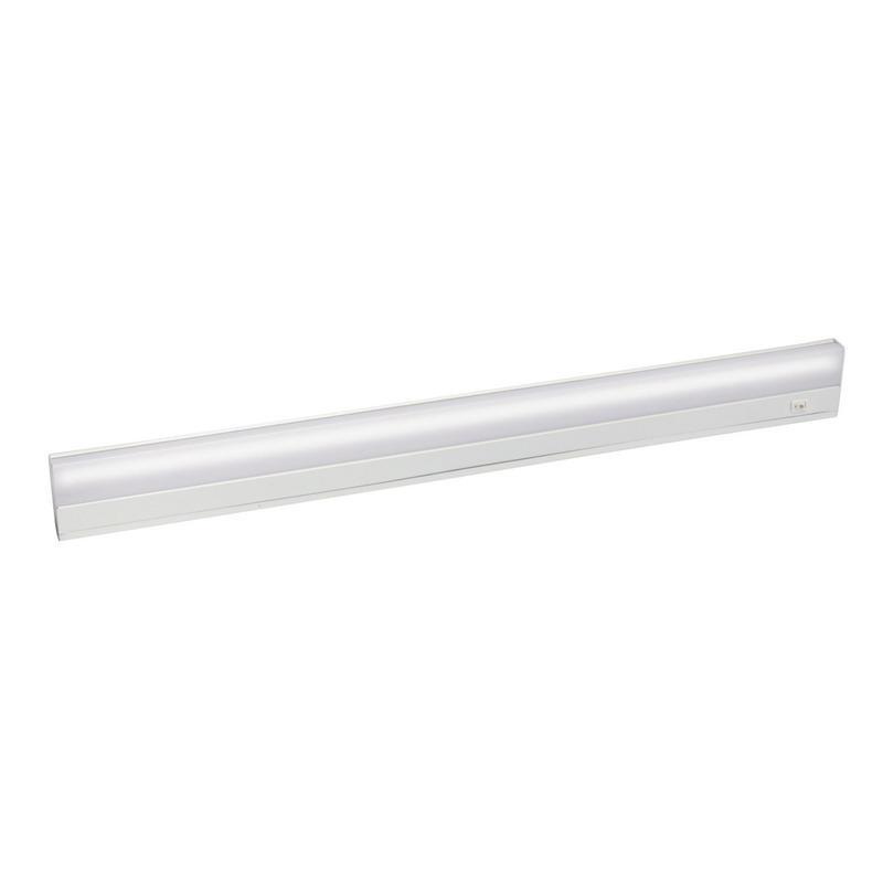 Kichler 10043WH 1-Light Task Work Direct Wire Undercabinet Light Fixture 21 Watt 120 Volt 2700K White