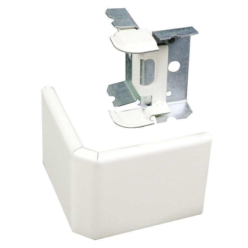 Wiremold V2418M External Elbow Fitting Steel Ivory For Use With 2400® Series Dual-Channel Raceway