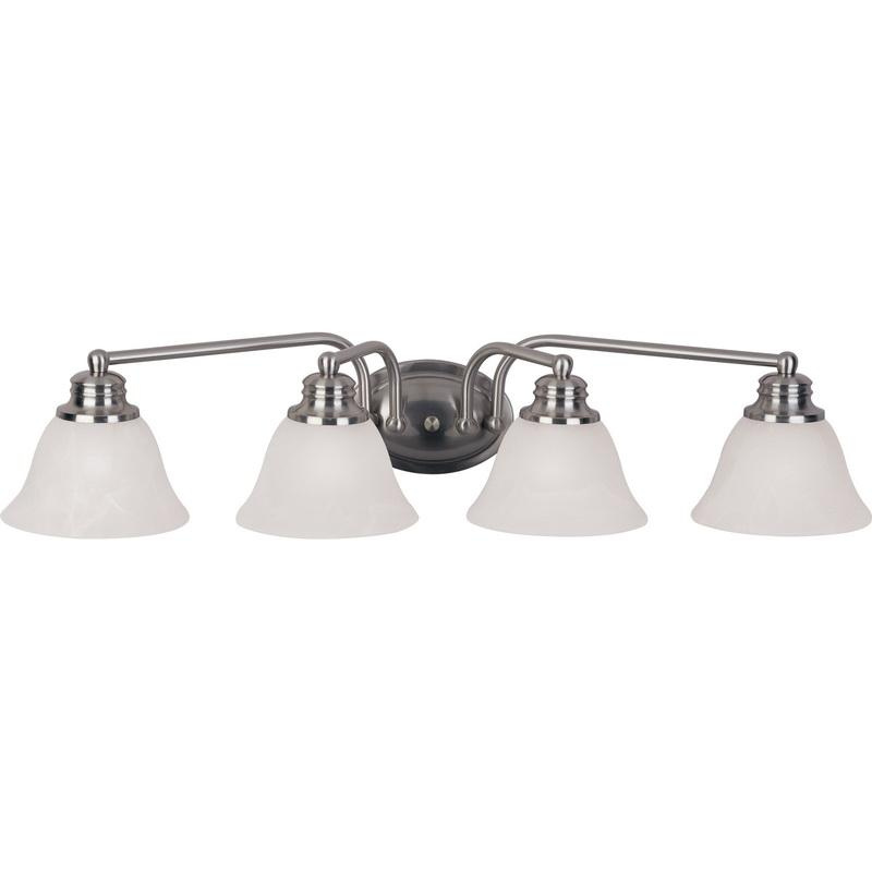 Maxim Lighting 2689MRSN 4-Light Classic Up/Down Mount Bath and Vanity Fixture 100 Watt 120 Volt Satin Nickel Malaga