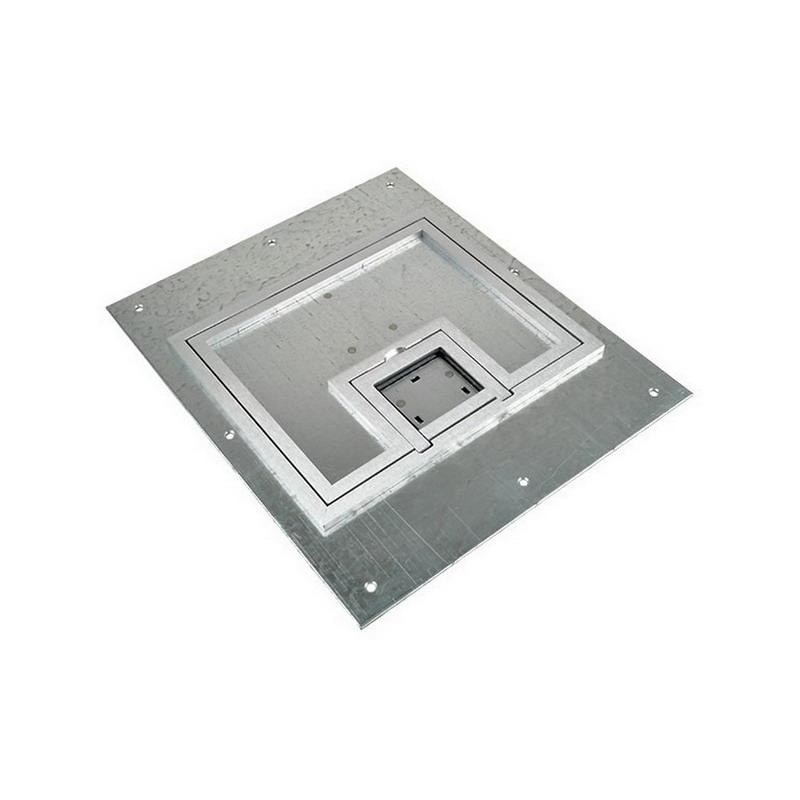 FSR FL-500P-SSQ-C Aluminum Steel U-Access Floor Box Cover With 1/4 Inch Aluminum Square Flange (Lift Off Door) 10.5 Inch x 0.125 Inch x 12.5 Inch FL-500 Series