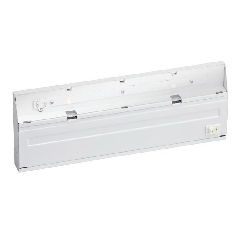 Kichler 12056WH 2-Light Direct Wire Undercabinet Light Fixture 6.4 Watt 120 Volt 3000K White