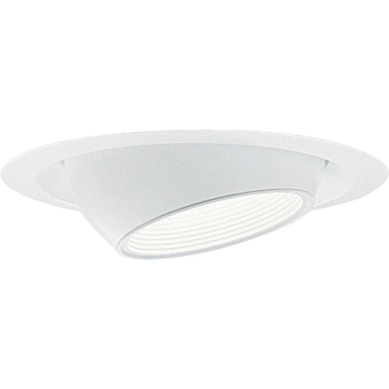 Progress Lighting P8077-28 IC/Non-IC 6 Inch Round Recessed Mini Eyeball Trim With Baffle 1-Light White