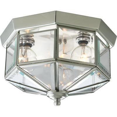 Progress Lighting P5788 09 3 Light Ceiling Fixture 25 Watt 120 Volt Brushed Nickel