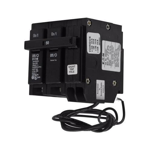 eaton br260st plug on mount circuit breaker with shunt trip 2 pole 60 amp 120 240 volt ac main. Black Bedroom Furniture Sets. Home Design Ideas