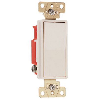 pass & seymour 2623-la 120/277 volt ac 20 amp 3-way  specification/construction grade decorator switch light almond - decorative  switches - switches - wiring