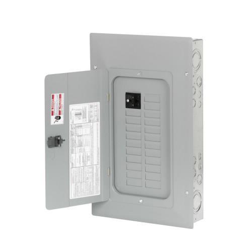 Eaton BR2020BC100 1-Phase 3 Wire Main Circuit Breaker Load Center 20 Circuits 120/240 Volt AC 100 Amp NEMA 1