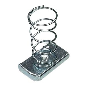 B-Line N224SS6 316 Stainless Steel 200 Series Channel Nut With Spring 1/4 Inch
