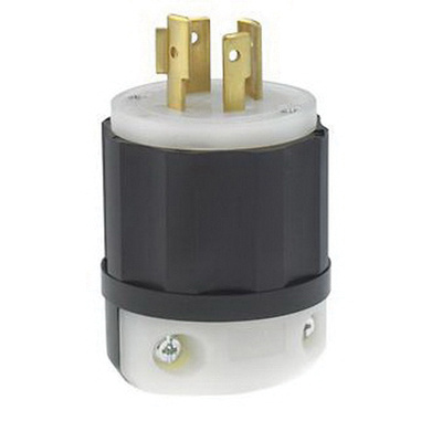 leviton 2451 4 wire 4 pole industrial grade locking plug. Black Bedroom Furniture Sets. Home Design Ideas