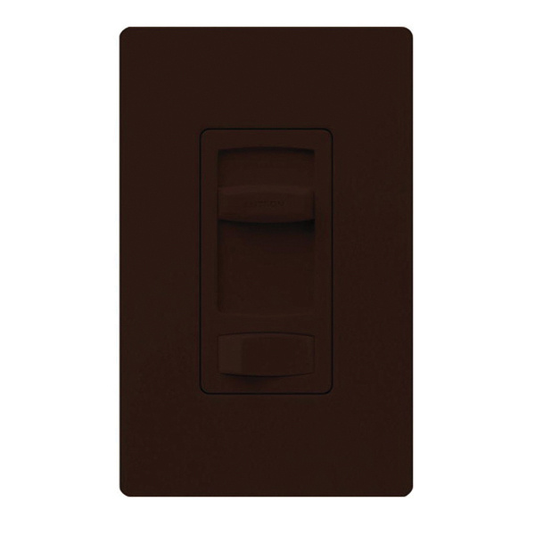 Lutron CTCL-153P-BR 1-Pole 120 Volt AC at 60 Hz 3-Way Dimmer with On/Off Switch Brown Skylark Contour®, CL®