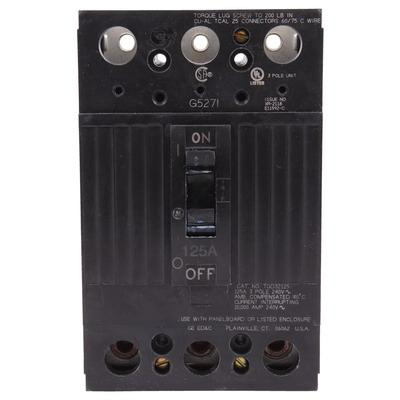 GE Industrial TQD32125 Bolt-On Mount Type TQD Molded Case Circuit Breaker 3-Pole 125 Amp 240 Volt AC