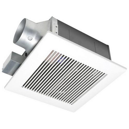 Panasonic FV-08VF2 Low Profile Ventilation Fan 4 Inch Duct 80 CFM at 0.1 Inch Static Pressure With 4 Inch Duct 70 CFM at 0.1 Inch Static Pressure With 3 Inch Duct WhisperFit™