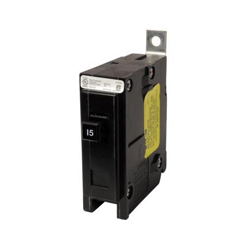 Eaton QBHW1015 Bolt-On Mount Type QBHW Industrial Miniature Circuit Breaker 1-Pole 15 Amp 120/240 Volt AC Quicklag®
