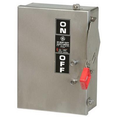 GE THN3361SS316 3 Wire 3 Pole Non-Fusible Heavy-Duty Safety Switch 600 Volt AC 30 Amp NEMA 4X Spec-Setter™