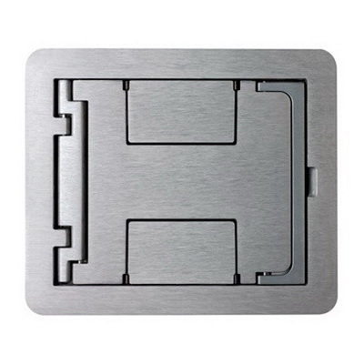 Wiremold FPBTCNK Die Cast Aluminum Rectangle Flanged Cover Assembly 6-1/2 Inch x 7-3/4 Inch Nickel FloorPort™