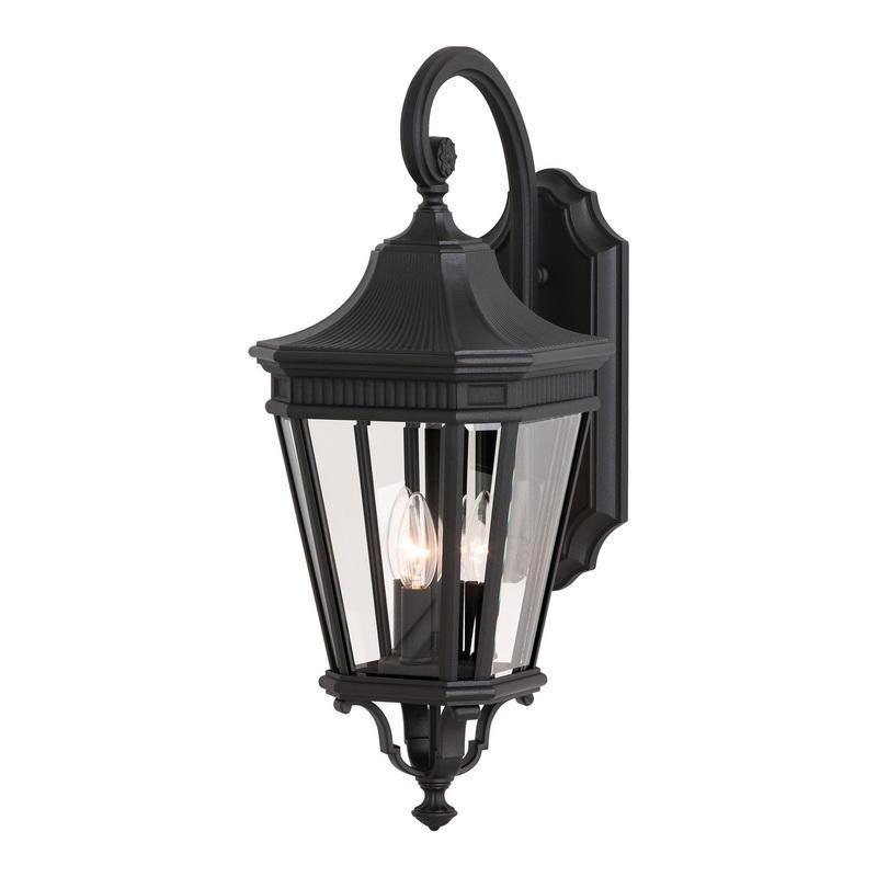 Murfeiss OL5402BK 3-Light Outdoor Wall Lantern 60 Watt 120 Volt Black Cotswold Lane