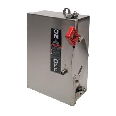 GE Industrial THN3362SS 3 Wire 3 Pole Non-Fusible Heavy-Duty Safety Switch 600 Volt AC 60 Amp NEMA 4/4X Spec-Setter™