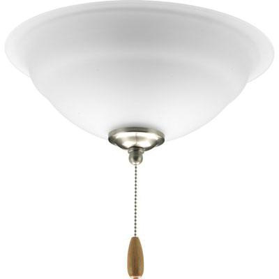 Progress Lighting P2645-09 Universal Ceiling Fan Light Kit 3 Lamp 120 Watt Brushed Nickel Plated Torino