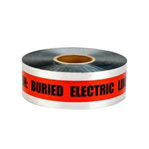3M 406 400 Series Detectable Buried Barricade Tape 3 Inch x 1000 ft x 5 mil Red Scotch®