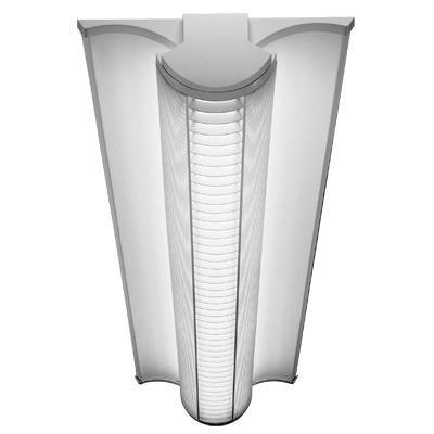 Lithonia Lighting AVSM-2-32-MDR-DLS-MVOLT-GEB10IS 2-Light Surface/Suspended Mount Linear Fluorescent Indoor Lighting Fixture 32 Watt 120 - 277 Volt White Polyester Powder-Coated Avante®