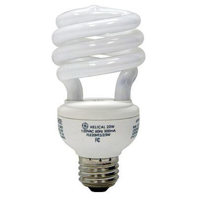 GE Lighting 25186 T5 Spiral Compact Fluorescent Lamp 20 Watt E26 Medium Base 1200 Lumens 82 CRI 4100K