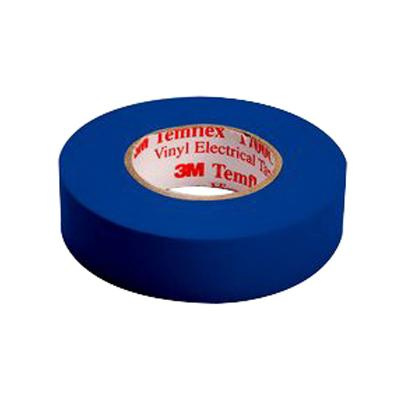 3M 1700C-BLUE General Use Electrical Tape 0 75-Inch x 66-ft x 7 mil Vinyl  Backing Blue Temflex™