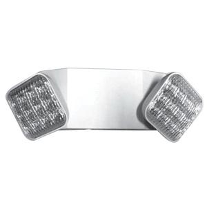 Mule Lighting SQ80-LED-W Wall/Ceiling Mount 2-Head LED Emergency Light 2 Watt 120/277 Volt White