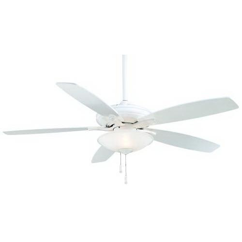 Minka-Aire F522-WH Mojo Ceiling Fan With Light 52 Inch 5 Blade 3 Speed White