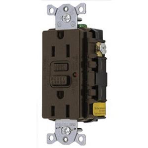 Hubbell-Wiring GF15LA LED GFCI Receptacle 125-Volt 15-Amp NEMA 5-15R on