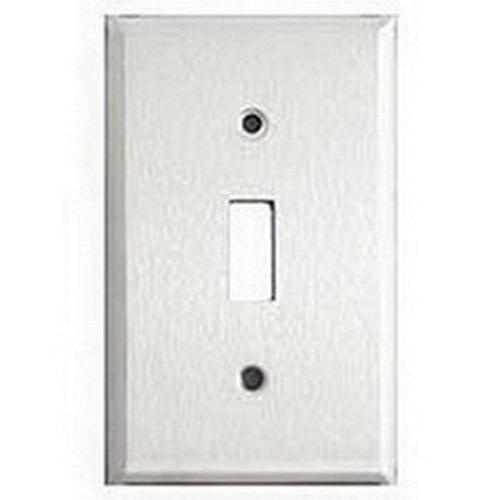 Mulberry 97871 430 Stainless Steel Device Mount Jumbo/Oversize 1-Gang Toggle Switch Wallplate (1) Toggle Switch