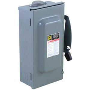 100 Amp Disconnect >> Square D Du323rb 3 Pole 1 Or 3 Phase Non Fusible General Duty