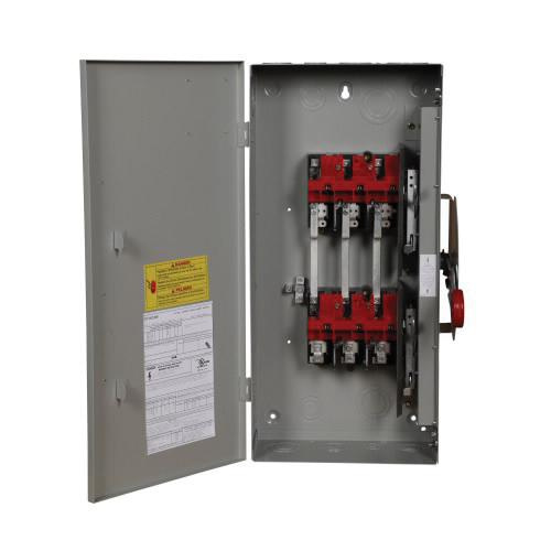 Eaton DT363UGK 3 Wire 3 Pole Non-Fusible K Series Manual Transfer Heavy-Duty Safety Switch 600 Volt AC 250 Volt DC 100 Amp NEMA 1