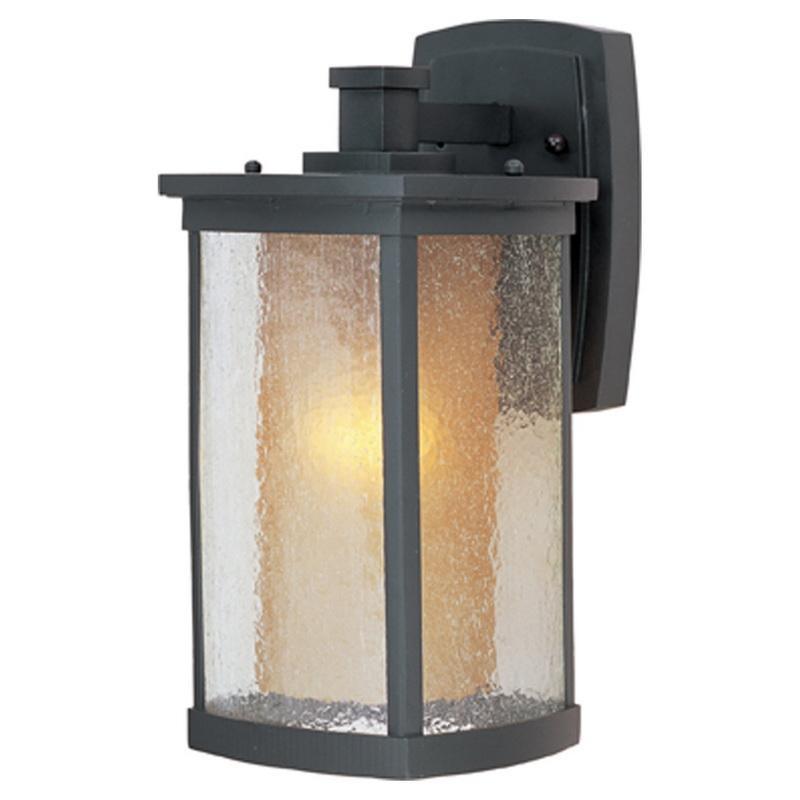 Maxim Lighting 3153CDWSBZ 1-Light Outdoor Wall Lantern 60 Watt 120 Volt Bronze Bungalow