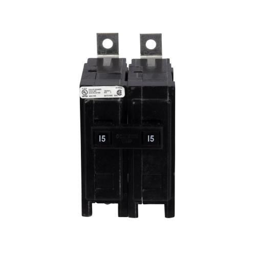 Eaton QBHW2015 Bolt-On Mount Type QBHW Industrial Miniature Circuit Breaker 2-Pole 15 Amp 120/240 Volt AC Quicklag®
